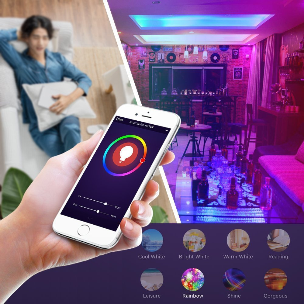 Boaz E12 Wifi Smart Candle Light Bulb Dimmerable RGBW Led Smartlife APP Remore Control Alexa Echo Google Home IFTTT Tuya Smart in LED Bulbs Tubes from Lights Lighting