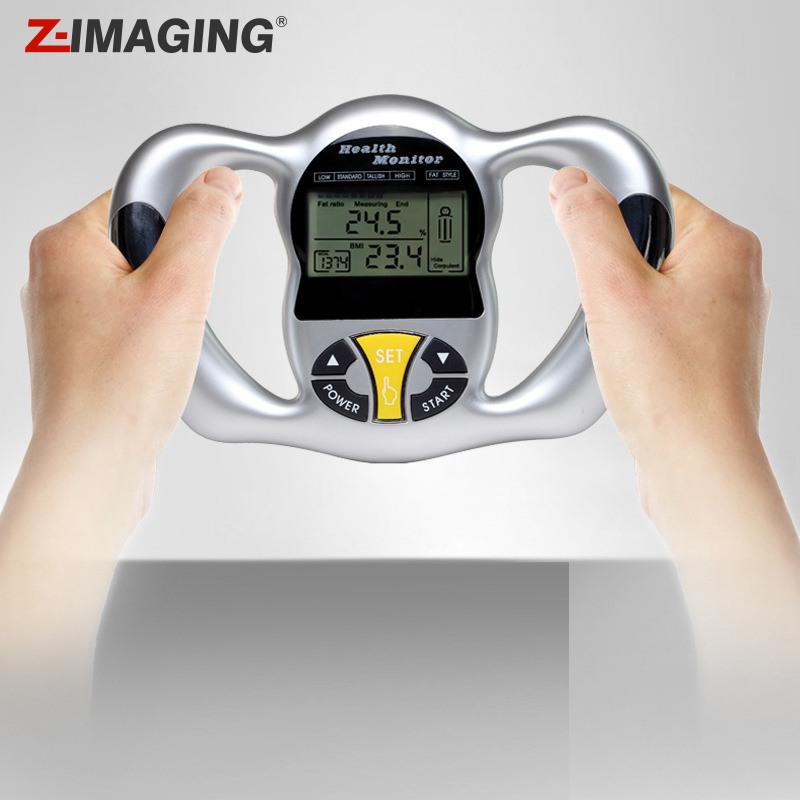 Portable Digital Body Fat Measuring Cellulite Lipo Test Analyzer LCD Display Measurement Adipose Analyzer Monitor Health Care 2 in 1 digital pedometer with fat analyzer