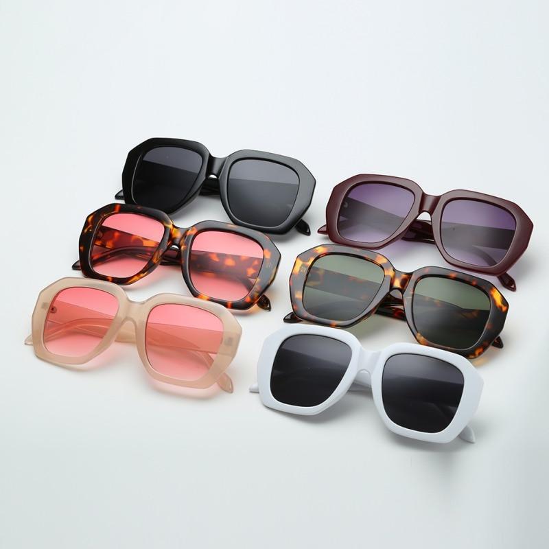 European American Fashion Women Oversize Big Square Frame Eyewear Sunglasses OF