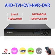 2MP Surveillance Camera Xmeye Hi3531A 16CH/8CH 5 in 1 Coaxial 1080P WIFI Hybrid Onvif NVR CVI TVI AHD CCTV DVR Free Shipping