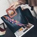 Venda quente 2016 Nova Moda Coreano Colorido Alça de Ombro Bolsa de Ombro Bolsa Tote Grande Capacidade saco Sacos de Composto