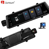 Junsun A900 Car DVRs 10 Full Touch Screen 3G Android GPS Navigators FHD 1080P Dashcam Rearview