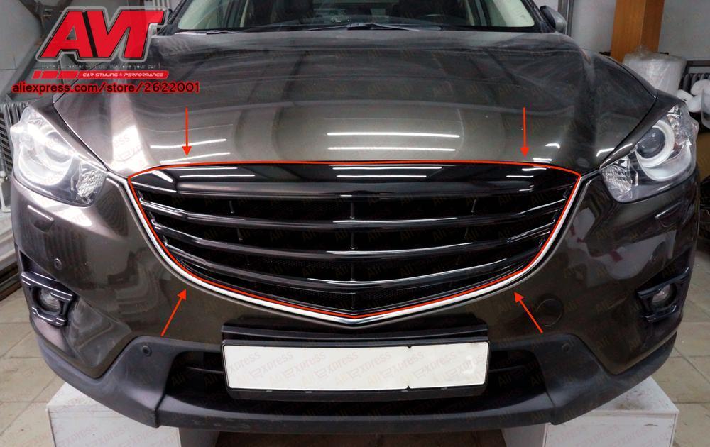 Решетка радиатора для Mazda CX 5 2017 2011 АБС пластик с черной сеткой декор дизайн спортивные стили автомобиля Стайлинг автомобиля аксессуары
