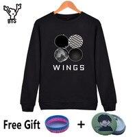 Bts Bangtan Boys Kpop Capless Sweatshirt Women Korean Autumn Winter Women Hoodies Sweatshirts Long Sleeve Wings
