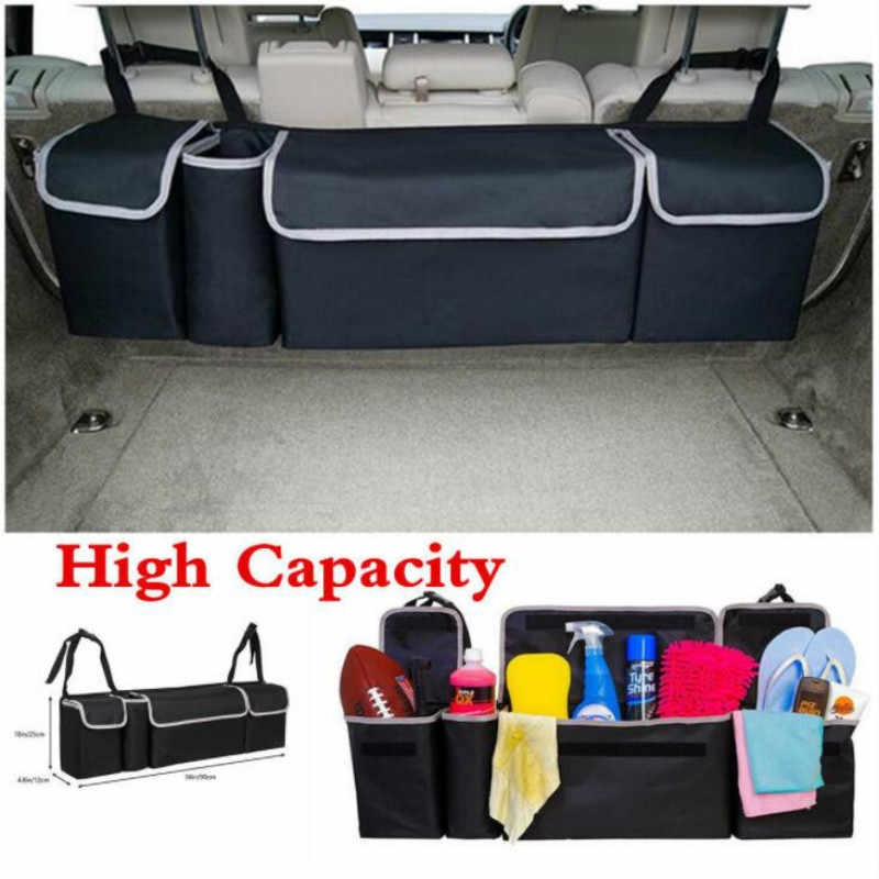 Car Organizer Trunk Backseat Adjustable Storage Bag Net High Capacity Multi-use Oxford Back Interior Accessories Automobile Seat