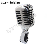 Professional Wired Vintage Classic Microphone Cardioid Dynamic Moving Coil Mike Deluxe Metal Vocal Old Style Karaoke Mic 55SH II