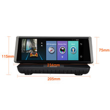 "XST 8"" 4G Wifi Android 5.1 Car DVR HD 1080P Dash Cam Rearview Dash Camera Dual Lens ADAS GPS Navigation Bluetooth Recorder(China)"