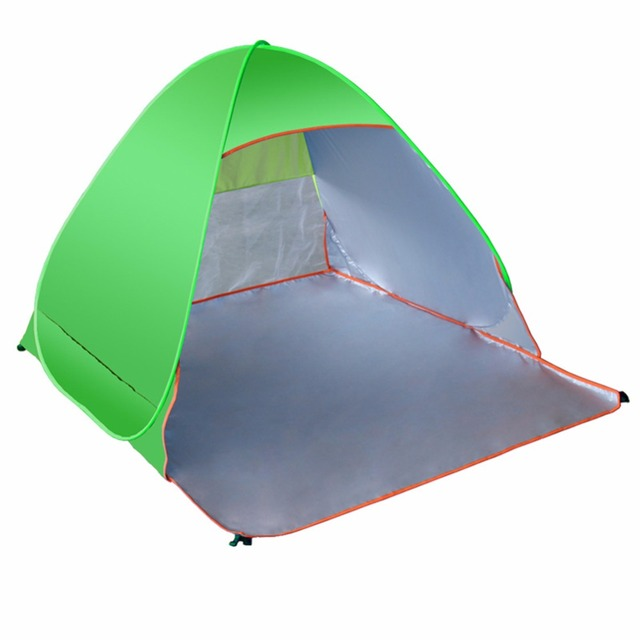 LumiParty Folding Beach Tent Automatic Pop Up Tents Outdoor Camping Anti-UV  Sun Shade Shelter 77ebedfc06ed