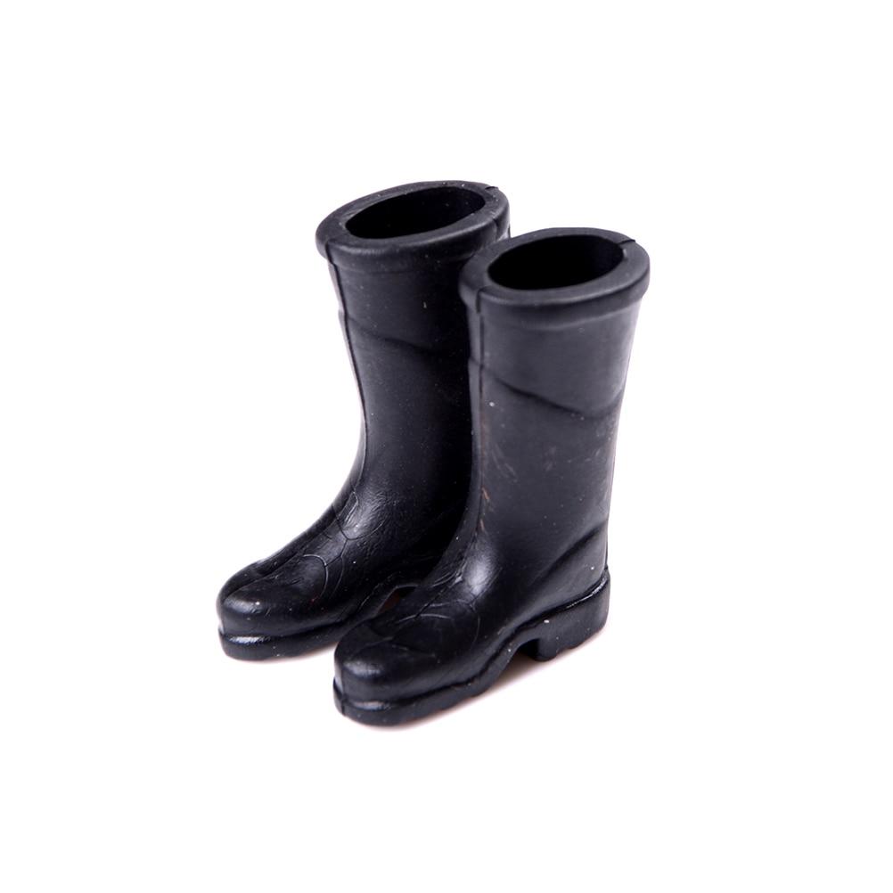 1 Paar Poppenhuis Meubels Miniatuur Zwart Rubber Regen Laarzen Schoenen Voor Meisje Thuis Tuin Yard Accessoire Speelgoed Geschenken Reputatie Eerst