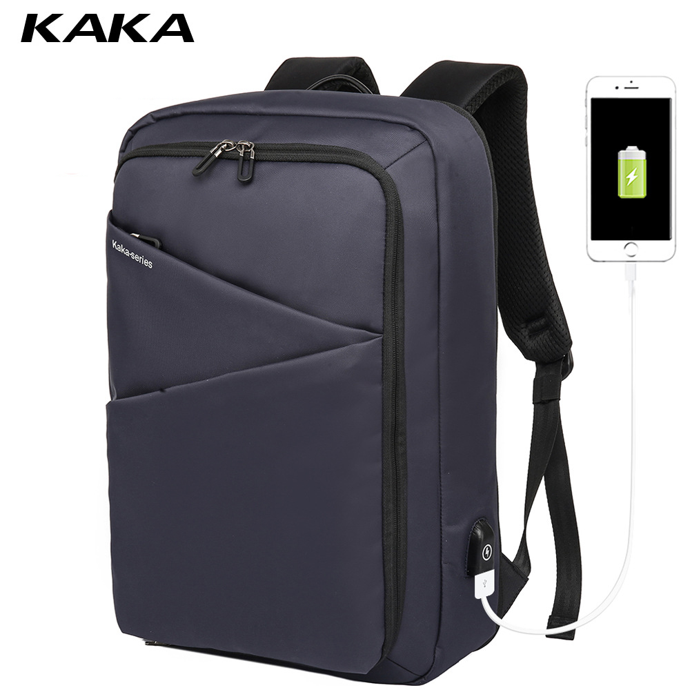 KAKA male new backpack fashion black school bag USB charging travel pack sports bag pack schoolbag anti theft backpacks for menKAKA male new backpack fashion black school bag USB charging travel pack sports bag pack schoolbag anti theft backpacks for men