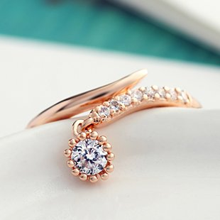 Neoglory, модное розовое золото, стразы, золотые кольца для женщин, свадебные скидки, подарок SQC