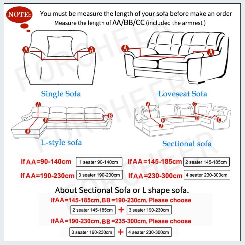 Sofa Penutup Besar Elastisitas 100% Polyester Spandex Peregangan - Tekstil rumah - Foto 2