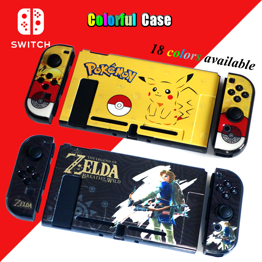 Nintend Switch NS Accessories Hard PC Protective Pattern Hard Skin Nintendos Crystal Shell for Nintendo Switch Console