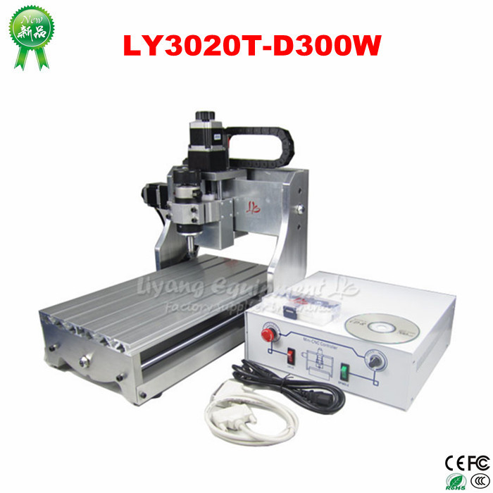 LY3020T-D300W mini CNC Router Machine for Engraver Drilling Milling cnc 5axis a aixs rotary axis t chuck type for cnc router cnc milling machine best quality