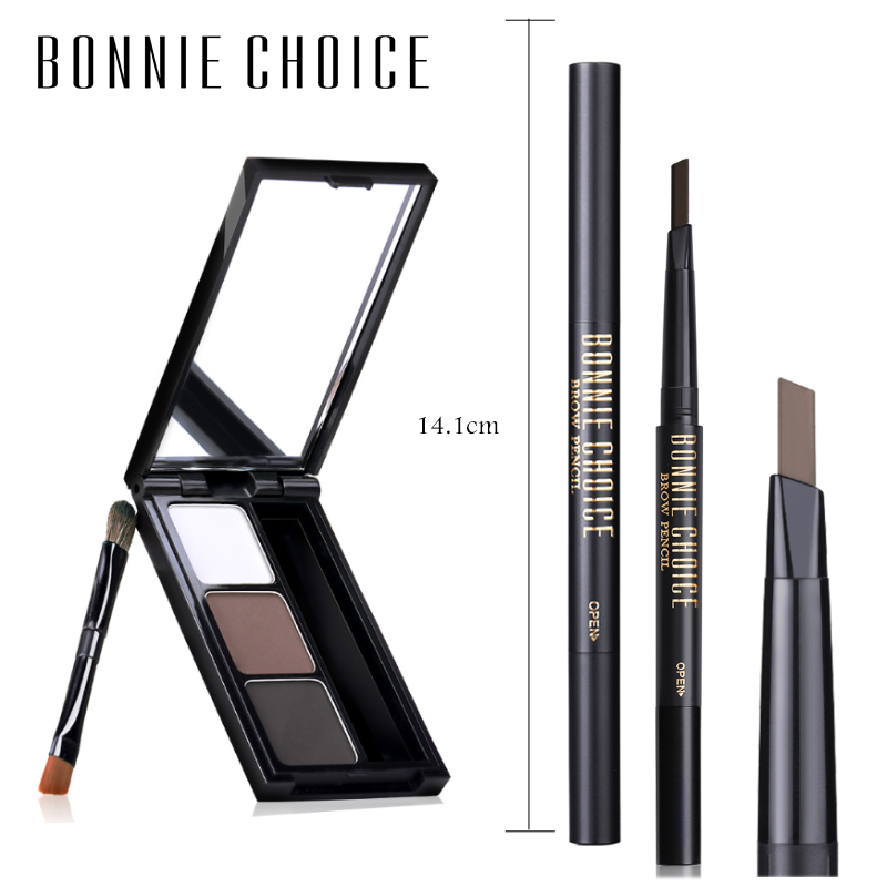 BONNIE CHOICE <font><b>Eyebrow</b></font> <font><b>Tatoo</b></font> <font><b>Pen</b></font> Eye Brow Pencil Waterproof Long-lasting <font><b>Eyebrow</b></font> Powder Automatic Tint Cosmetics 12 Colors image