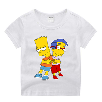 Little Boy Simpson Funny T-shirt for Kids Boys and Girls Summer O-Neck Tops 1