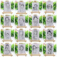 Прозрачный силиконовый штамп для девочек/печать для DIY скрапбукинга фотоальбом Декоративные бумажные открытки ручной работы подарок
