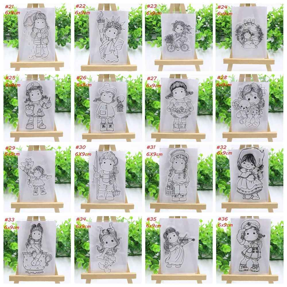 2018 New Girls Transparent Clear Silicone Stamp/Seal For DIY Scrapbooking Photo Album Decorative Paper Card Crafts Handmade Gift