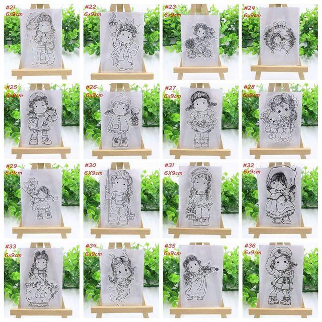 2018 חדש בנות שקוף ברור סיליקון חותמת/חותם עבור DIY רעיונות אלבום תמונות דקורטיבי נייר אמנות כרטיס בעבודת יד מתנה