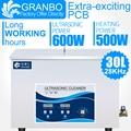Гранбо промышленная Очистительная Машина 30л Ультразвуковой очиститель 28 кГц 600 Вт пьезоэлектрический преобразователь тяжелого масла ржав...