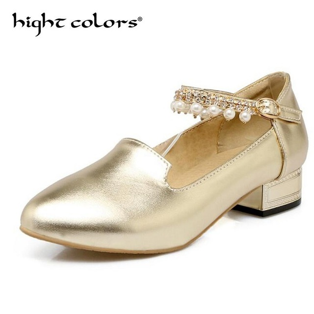 a36a1d5f39eeb1 2018 Spring New Fashion Women Flat Shoes Patent Leather Gold Sliver Ankle  Strap Oxfords Shoes For Women Rhinestone Princess Shoe