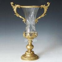 Свадебные декорации, праздник леденец прозрачный стакан скульптуры Бронзовый чайник ремесла статуя Современный домашний декор GP 005