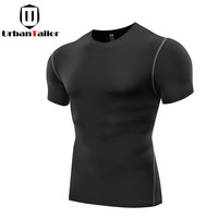 Hot Sale Solid Fitness Compression T Shirt Men Fast Dry Workout Gear Black Top Tees Bodybuilding