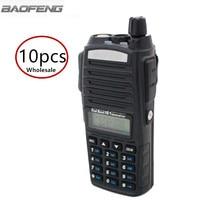 10pcs Baofeng UV 82 Two Way Radio Wholesale 5W Dual Band 137 174/400 520MHz Ham Amateur Walkie Talkie UV82 For Hunting Tracker