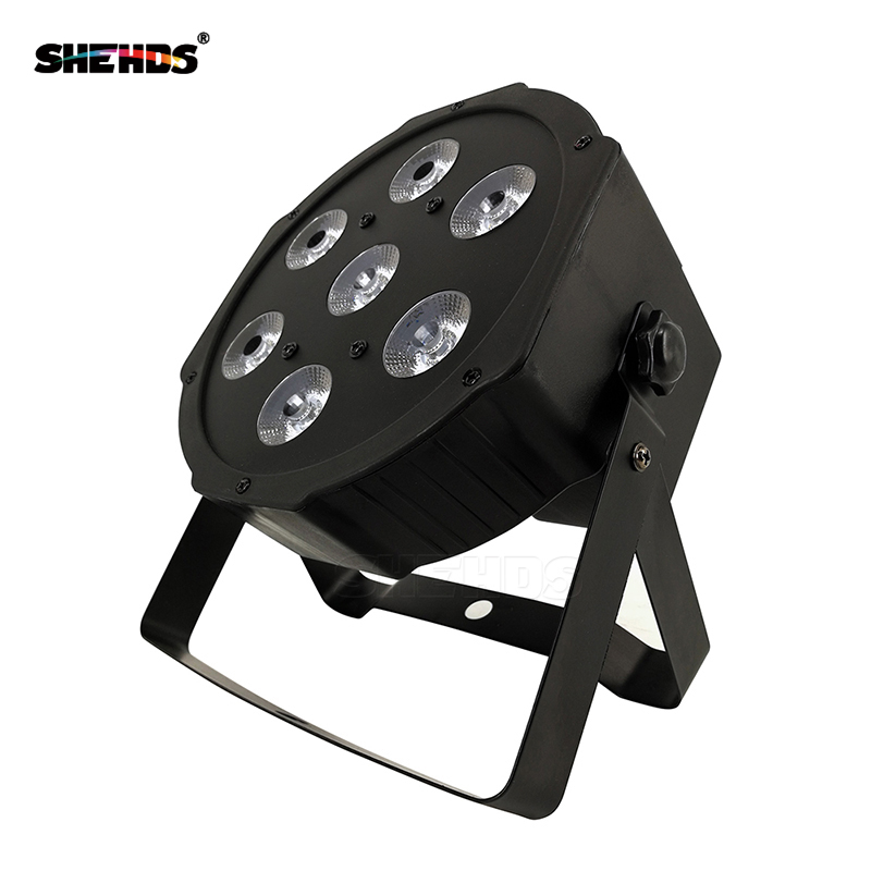 SHEHDS Best LED Flat Par 7x9W RGB  Disco Light DMX 512/7 DMX Channels Party DJ Lighting Design PAR Light For Indoor Club Party