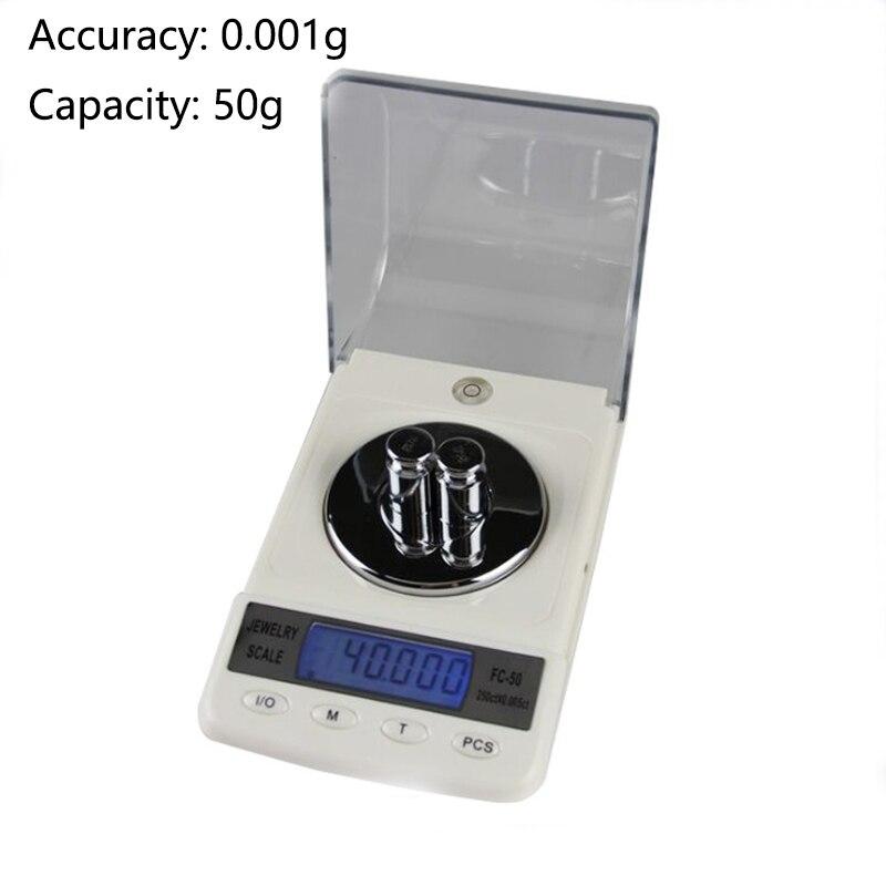 Échelle de haute précision Carat en poudre or échelle numérique expérimentale Balance électronique bijoux échelle électronique 0.001g