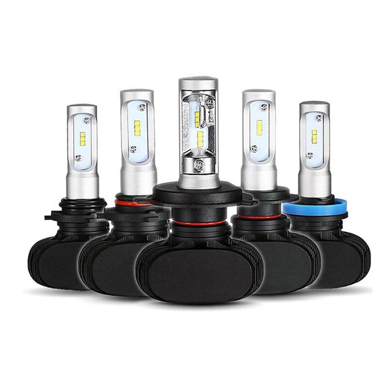 S1 8000LM Car Light Fanless 12V Headlight Blubs LED H7 H4 LED Bulbs H8 H11 9005 9006 H1 H3 Headlight Fog lamp