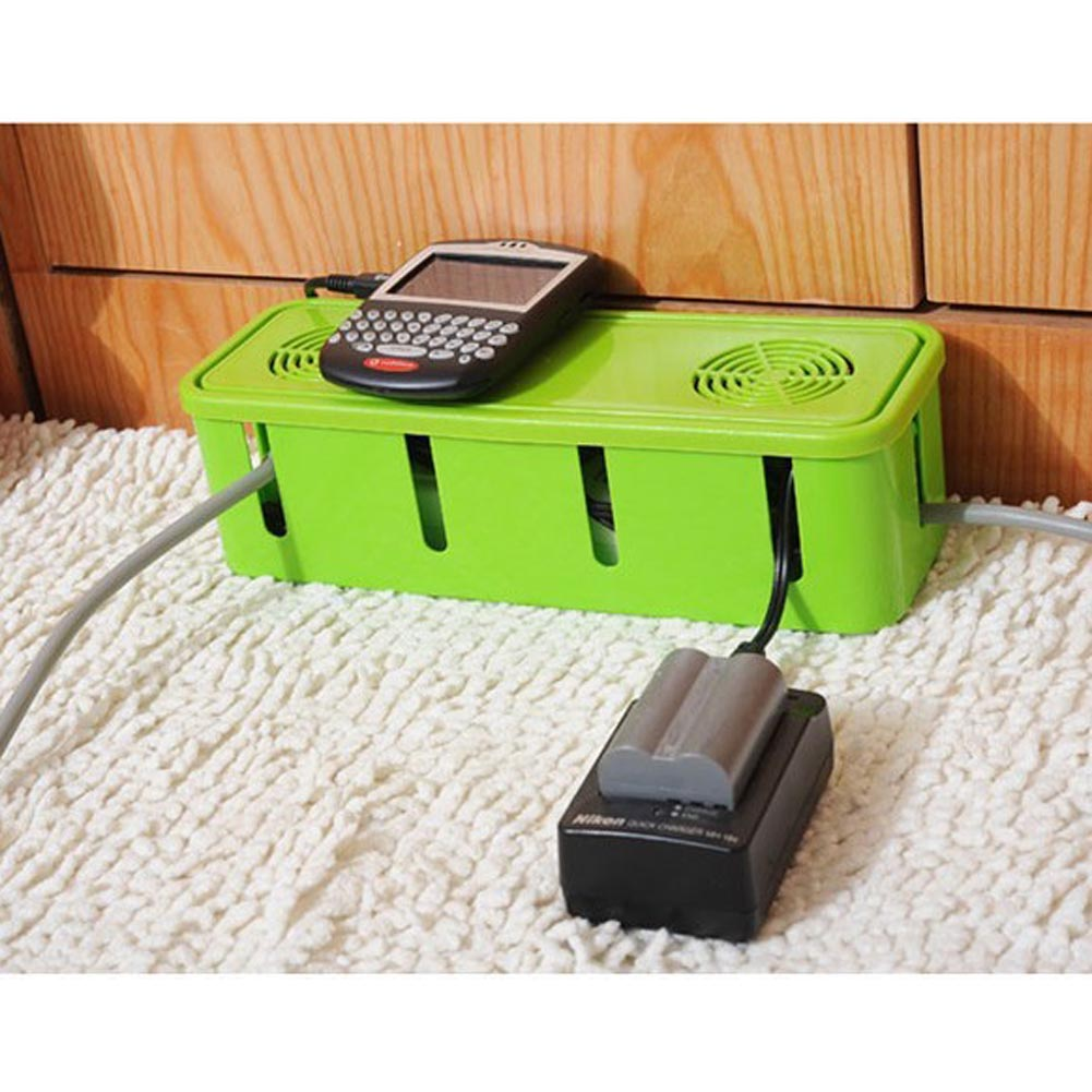 1Pc Power Strip Cord Socket Storage Boxes Organizer Safety Socket Outlet Board Container Cables Electric Wire Case Accessories