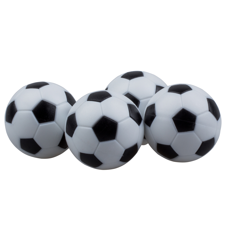 Новые забавные Пластик 4 шт. 32 мм Футбол настольный футбол Футбол Fussball Крытый черный + белый спортивный Игрушечные лошадки Развлечения парти...