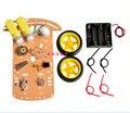 1 PÇS/LOTE Novo Motor Inteligente Robot Car Kit Chassis Velocidade Encoder Caixa de Bateria Para Arduino Frete grátis