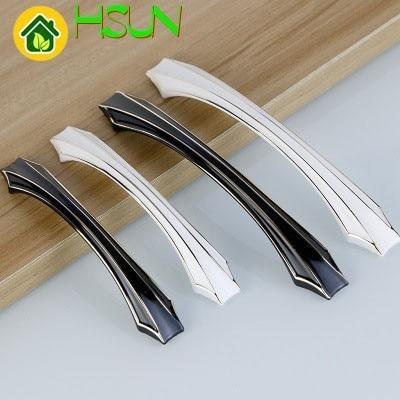 Black White Modern European Furniture Cabinet Drawer Pull Wardrobe Handle American Hardware Accessories Small