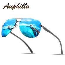 Polarized Sunglasses Men Luxury Brand Design Aluminum Magnesium Rimless Driving Glasses UV400 Eyewear Accessories