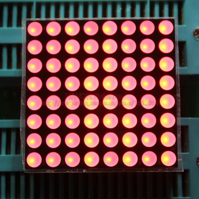 (5pcs/lot) 8x8 8*8 Red 3.7MM 3.75MM Dot Matrix Display Common Cathode 16 Pins Digital Tube Size 38*38MM DIY For Arduino 1588AR