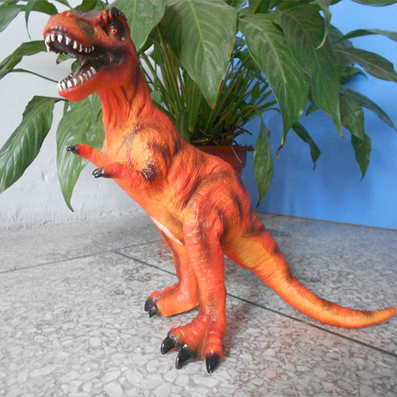 Simulation Dinosaur Toy Action Figure Tyrannosaurus Rex Model Toy Color Random Ornaments Vinyl Dinosaur Toy bwl 01 tyrannosaurus dinosaur skeleton model excavation archaeology toy kit white
