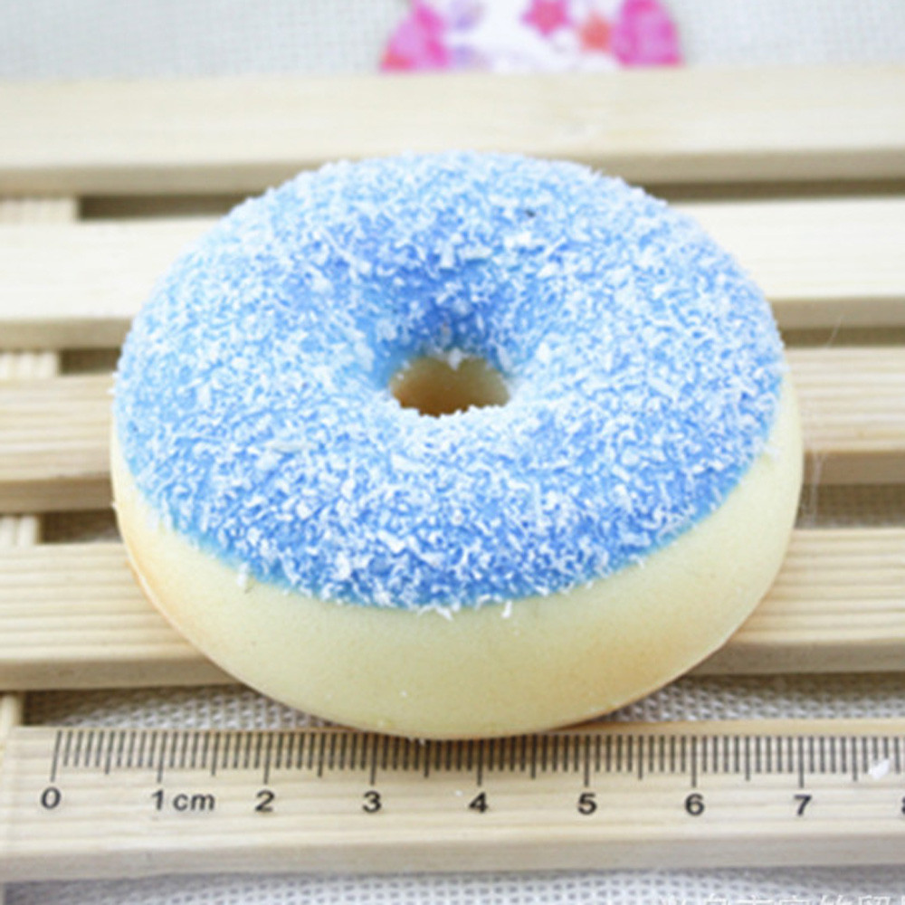 Novelty Donuts Squishy Squeeze Toys Stress Reliever Colourful Doughnut Slow Rising Antistress Kids Decompression Toy Gifts 6.4