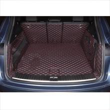 Lsrtw2017 волокна кожи багажник автомобиля коврик для porsche cayenne 2011 2012 2013 2014 2015 2016 2017 2018 2019