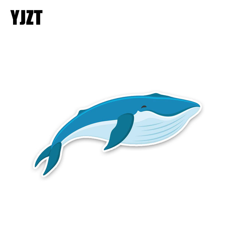 YJZT 13.7*7CM Huge Relax Quiet Whale PVC Animal Popular Fashion Car Sticker Decals C1-3325