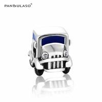 Pandulaso Jeep Car Sports Charms for Women Jewelry Making Color Children Toy Silver 925 Jewelry Fit Women Fashion DIY Bracelets