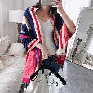 Image 3 - Роскошный брендовый шарф для женщин, модные шарфы и накидки с принтом лошади, толстые теплые кашемировые шарфы, зима 2020, Пашмина, большой шарф