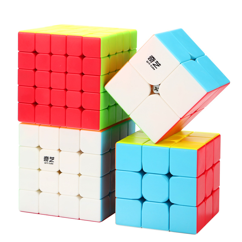 <font><b>QIYI</b></font> <font><b>QIYUAN</b></font> <font><b>S</b></font> 2x2x2 4*4*4 5*5*5 Stickerless Magic Cube Speed Puzzle 2x2 <font><b>4x4</b></font> 5x5 Cube Educational Magico Cubo Toys Gifts image
