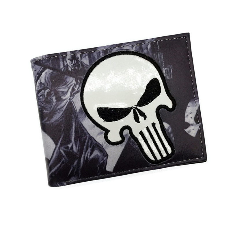 Wholesale Comics Wallet Purse Punisher Iron Man Venom Thor Cartoon Wallet With Card Holder Free Shipping the punisher wallet marvel comics punisher with logo superhero collection character leather look bi fold purse dft 1536