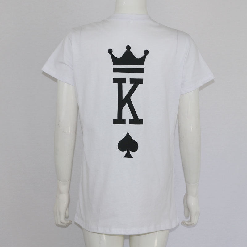 ce84ecd2d6 Poker Graphic King and Queen Tumblr Funny Streetwear T Shirt Fashion Men  Women Couple T shirt Clothing 2018 Summer Lover Tees-in T-Shirts from  Women's ...