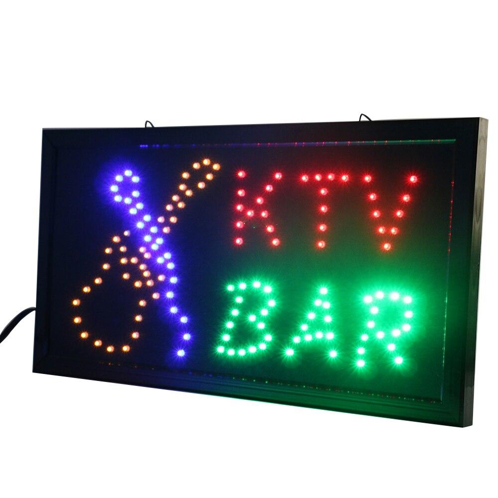 CHENXI Animation KTV Bar boutique publicité intérieure entreprise KTV Bar magasin néon enseigne 10X19 pouces de Led affichage publicité lumière.