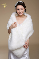 Ne Wedding Bolero Outerwear Wedding Accessories Urged Wrap Bride Formal Winter Cape Bride Fur Shawl Wedding