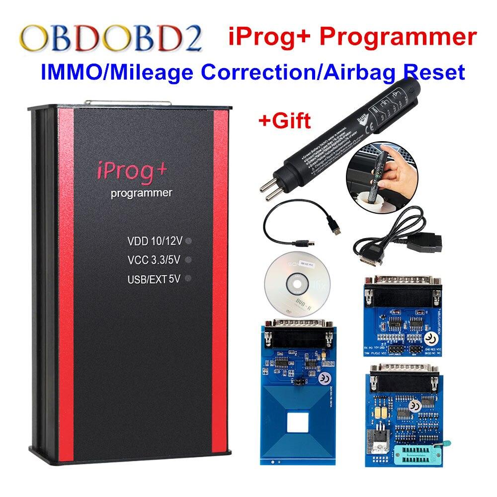 Iprog + Apoio Programador IMMO + Correção de Quilometragem + Iprog Pro Substituir Carprog Airbag Reset/Digiprog/Tango DHL livre