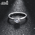 Effie Queen  Wholesale Platinum Plated Solitaire Ring with AAA Quality Cubic Zircon Ladies Ring WHR01